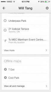 Google Offline Maps View Saved Map Step 2b
