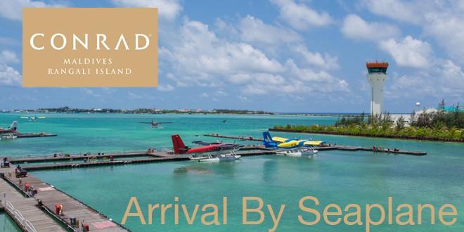 Conrad Maldives – Arrival by Seaplane
