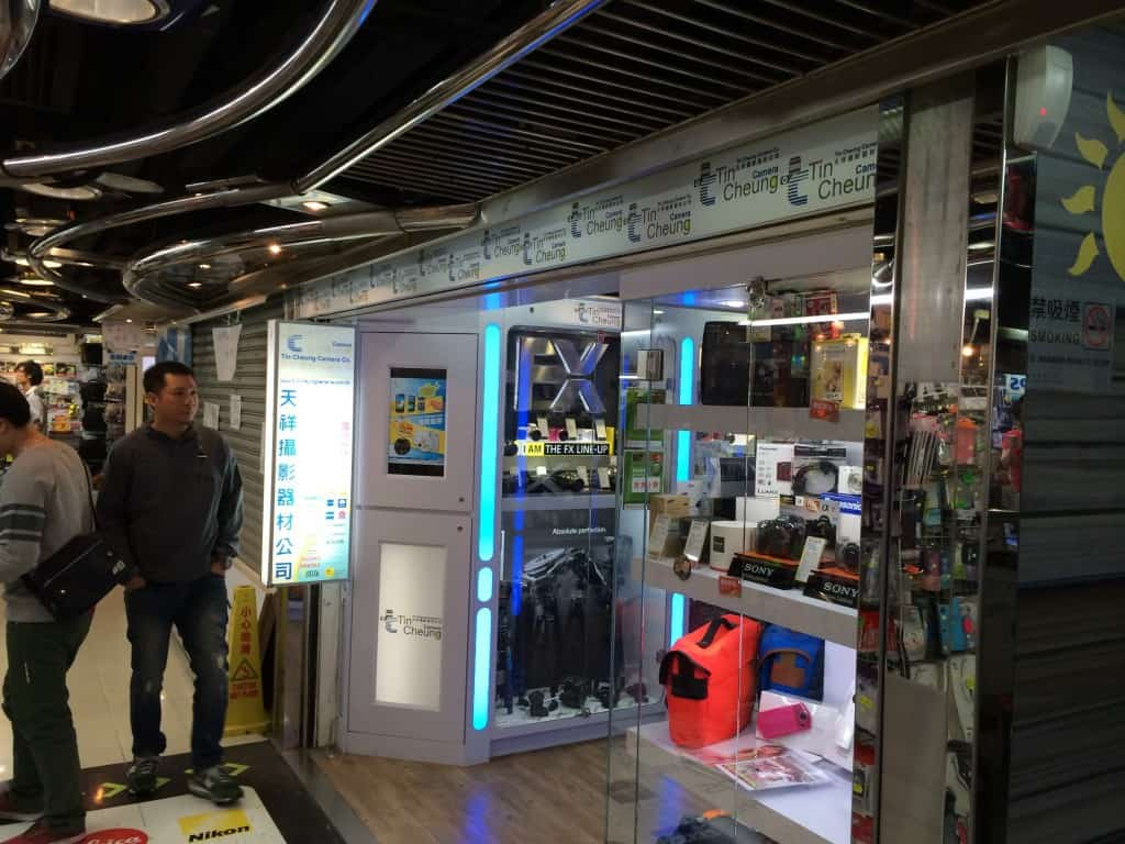 The Tin Cheung storefront in Sim City, Mong Kok where I bought my f-stop gear.