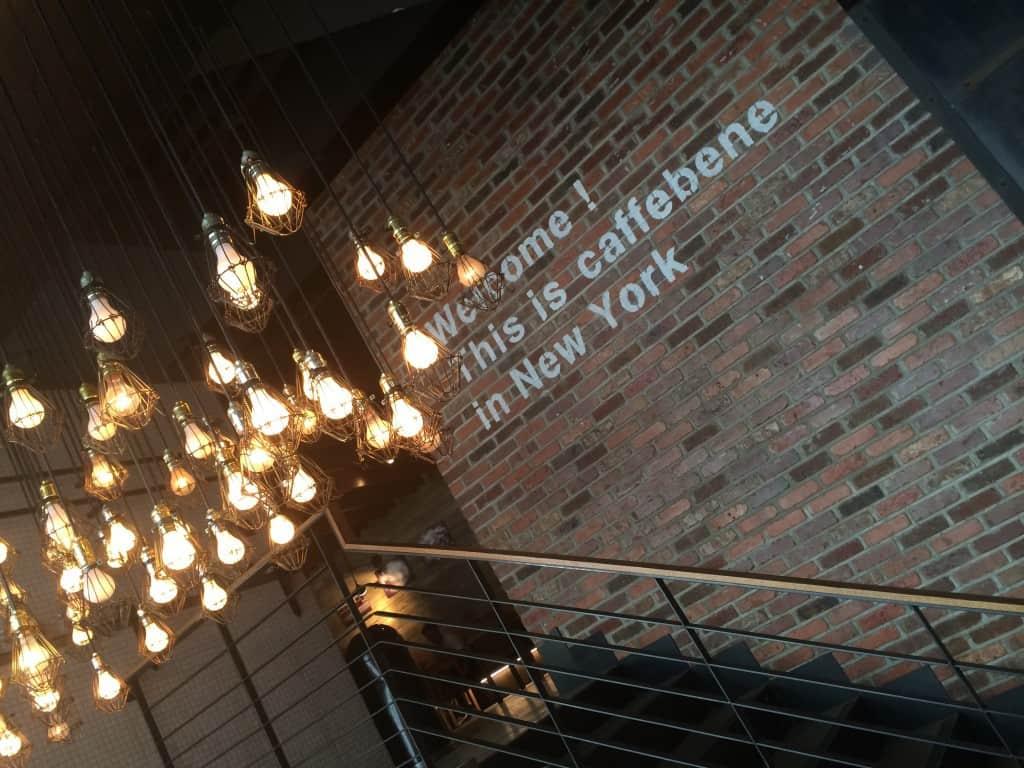 Caffe Bene Hanging Lightbulbs