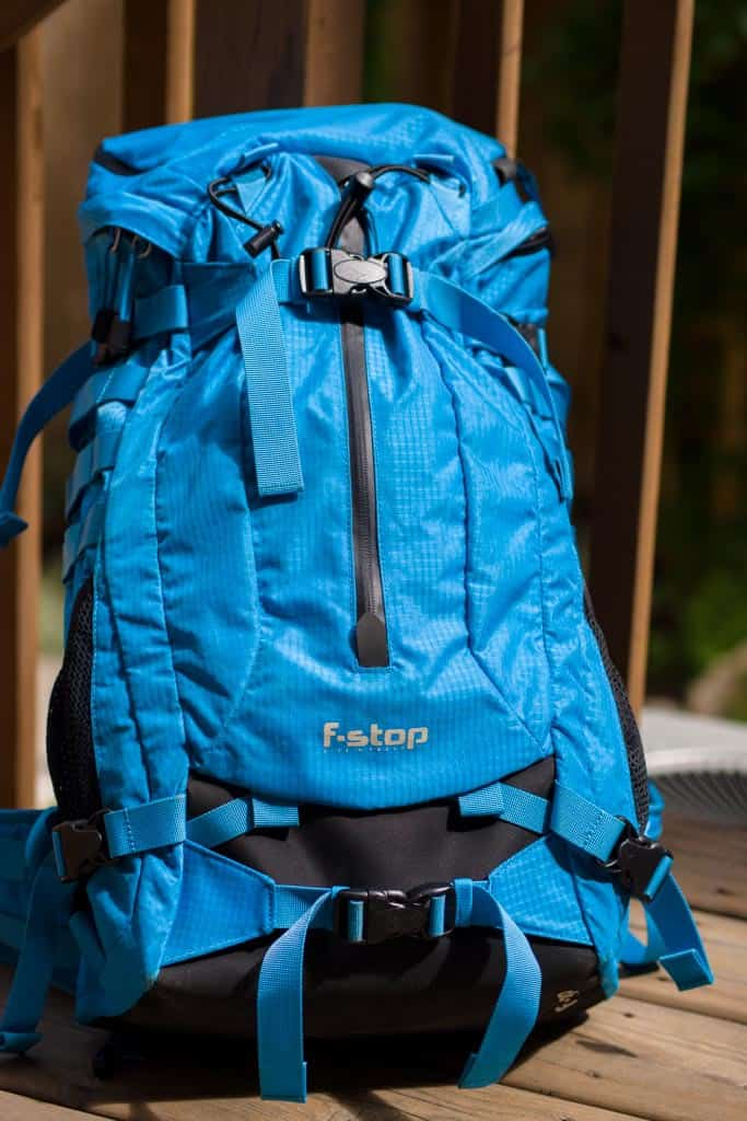 f-stop gear loka backpack review in blue
