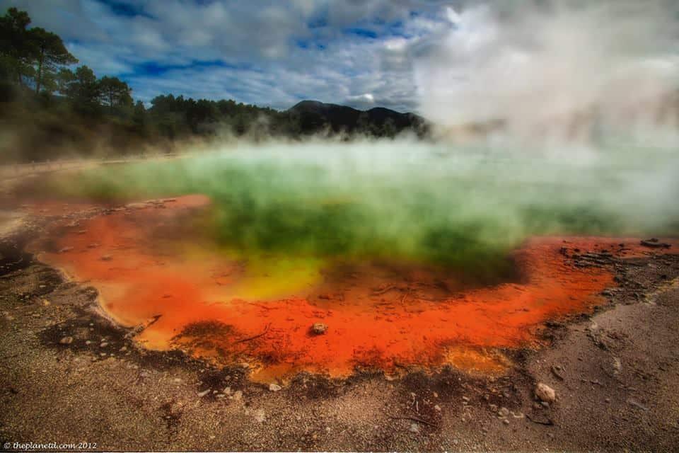 Wai-O-Tapu Geothermal pools in New Zealand.