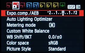 canon dslr menu exposure for hdr photography