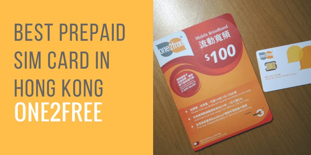 Best Prepaid SIM in Hong Kong - one2free