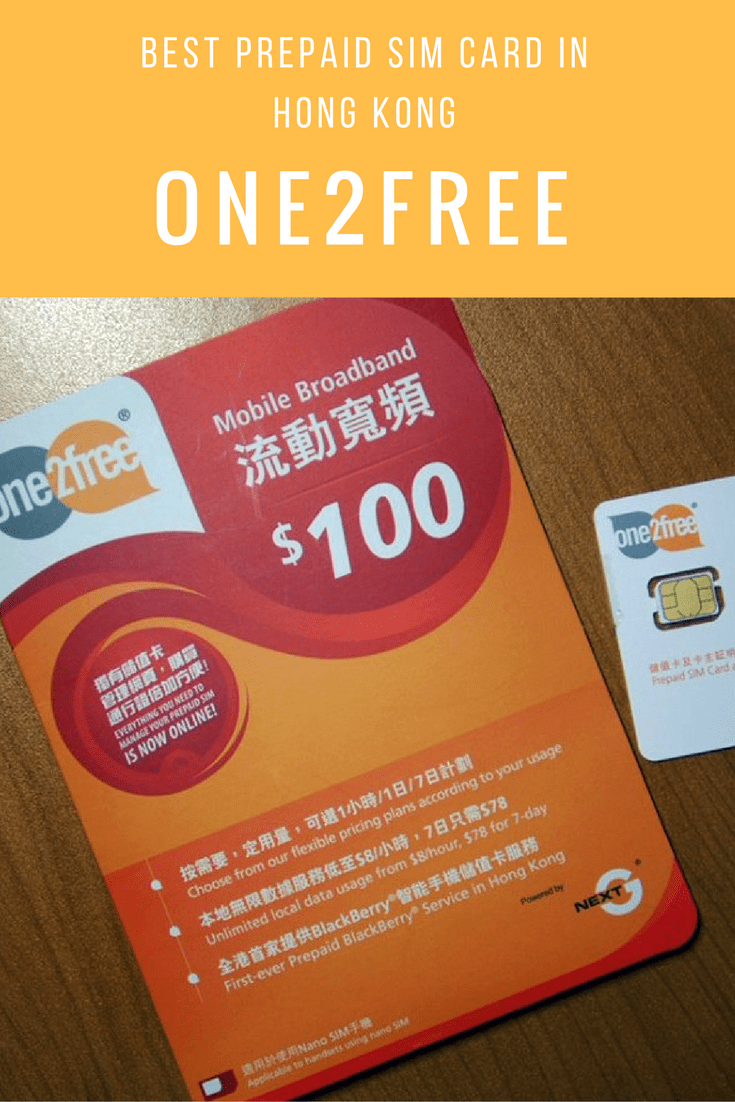 Best Prepaid SIM Card in Hong Kong is one2free