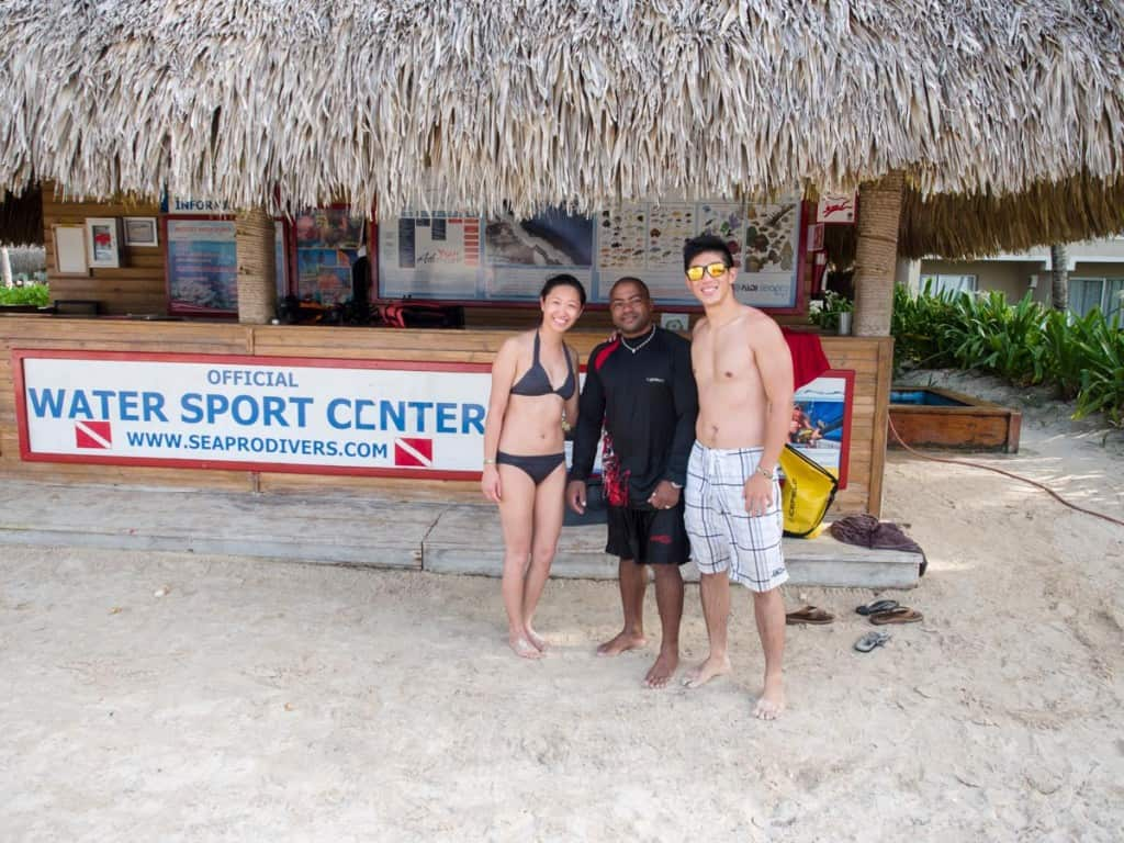 seapro divers customers with instructor rodolfo in punta cana dominican republic