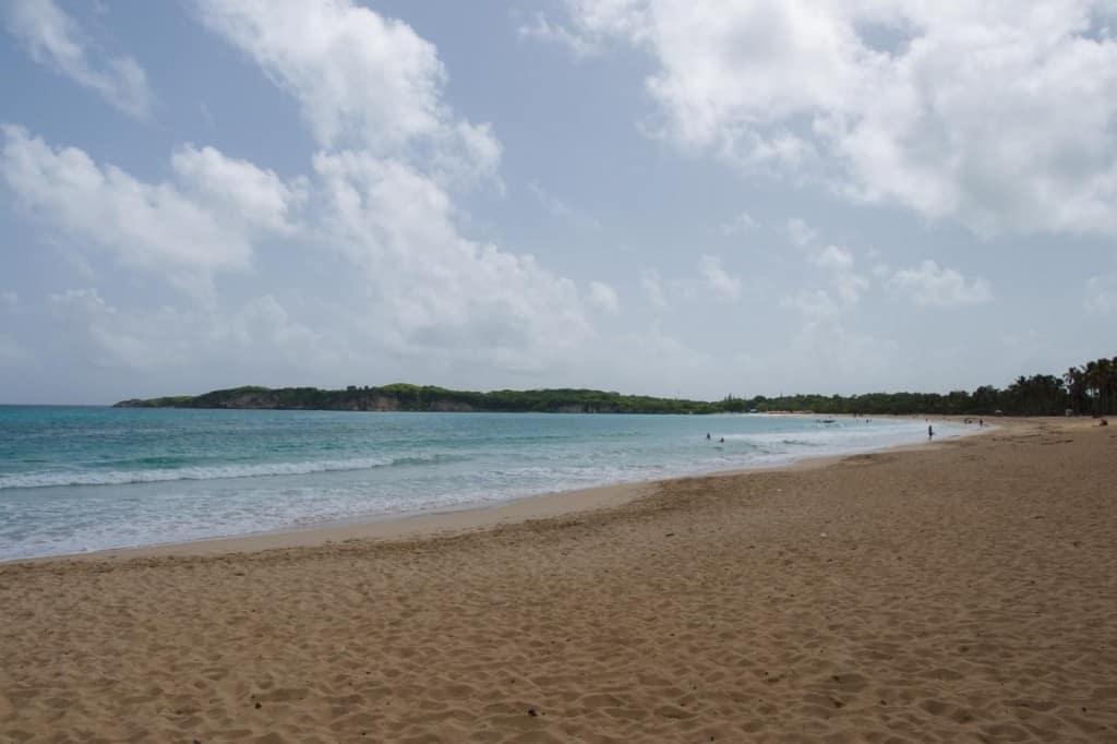 perfect white sand of macao beach near punta cana