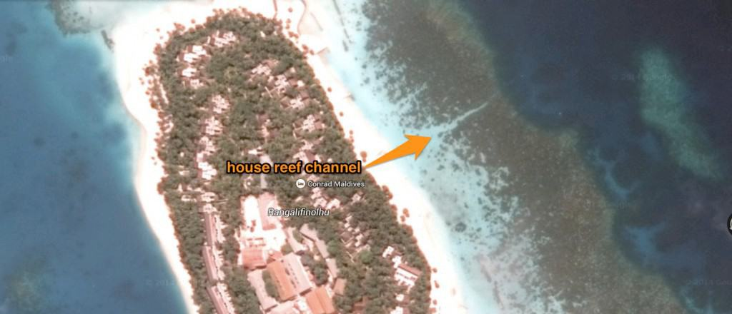 Where to find the house reef channel.