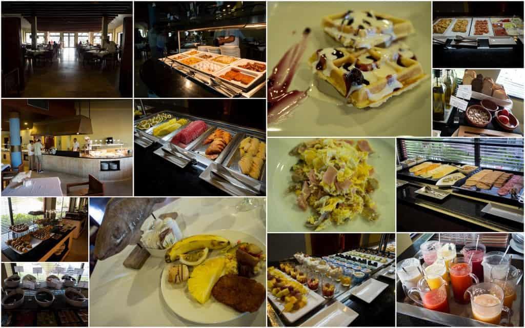 breakfast mosaic of photos from meal at the thalassa restaurant of catalonia royal bavaro