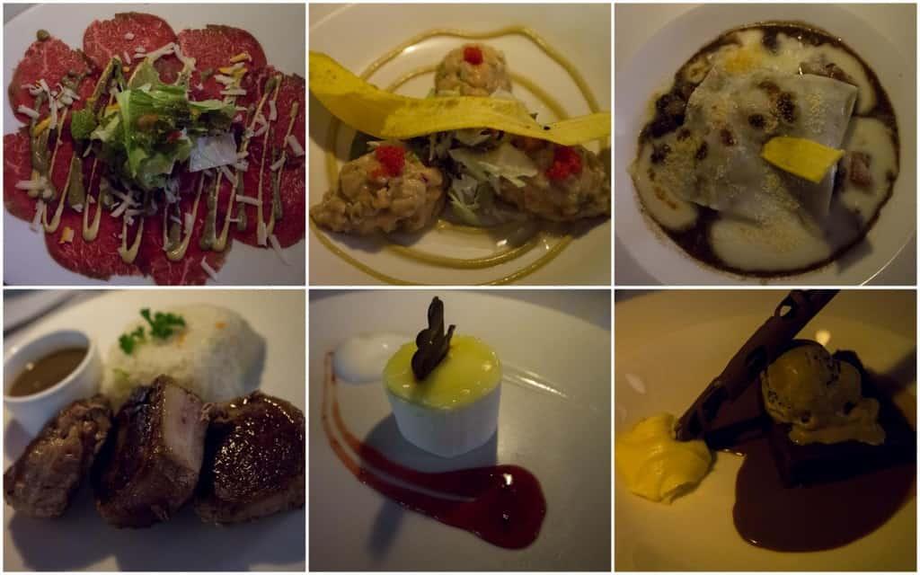 thalassa restaurant dinner dishes at catalonia royal bavaro