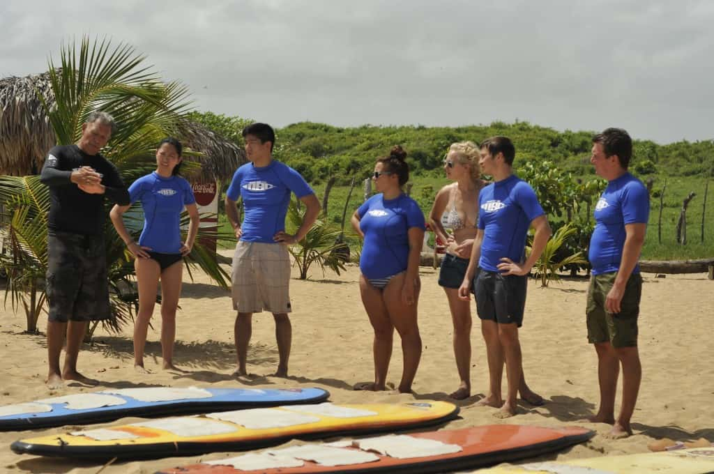 introductory surf camp training at macao surf camp