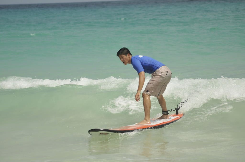 will from going awesome places surfing a wave on macao beach