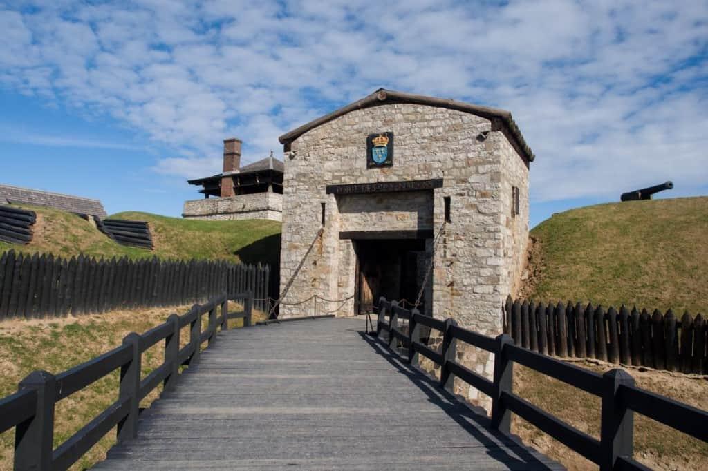 Entering Old Fort Niagara.