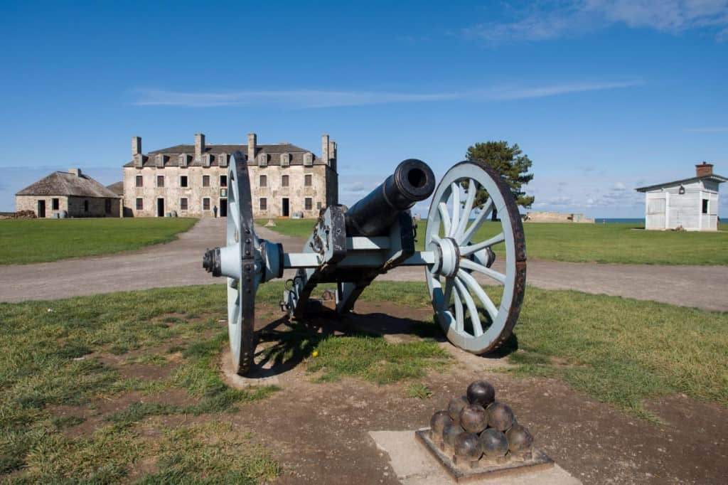Cannon on the Old Fort Niagara grounds.