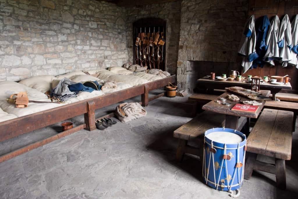 French garisson barracks inside the castle.