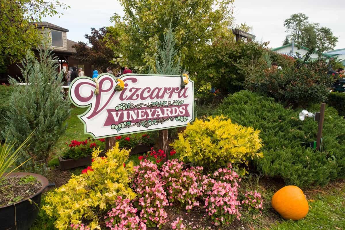 Vizcarra Vineyards Sign