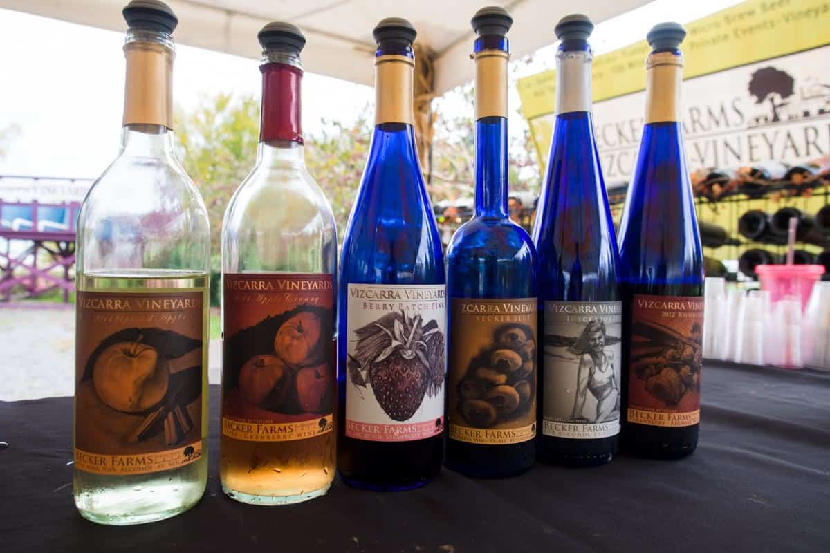 The fruit wines.