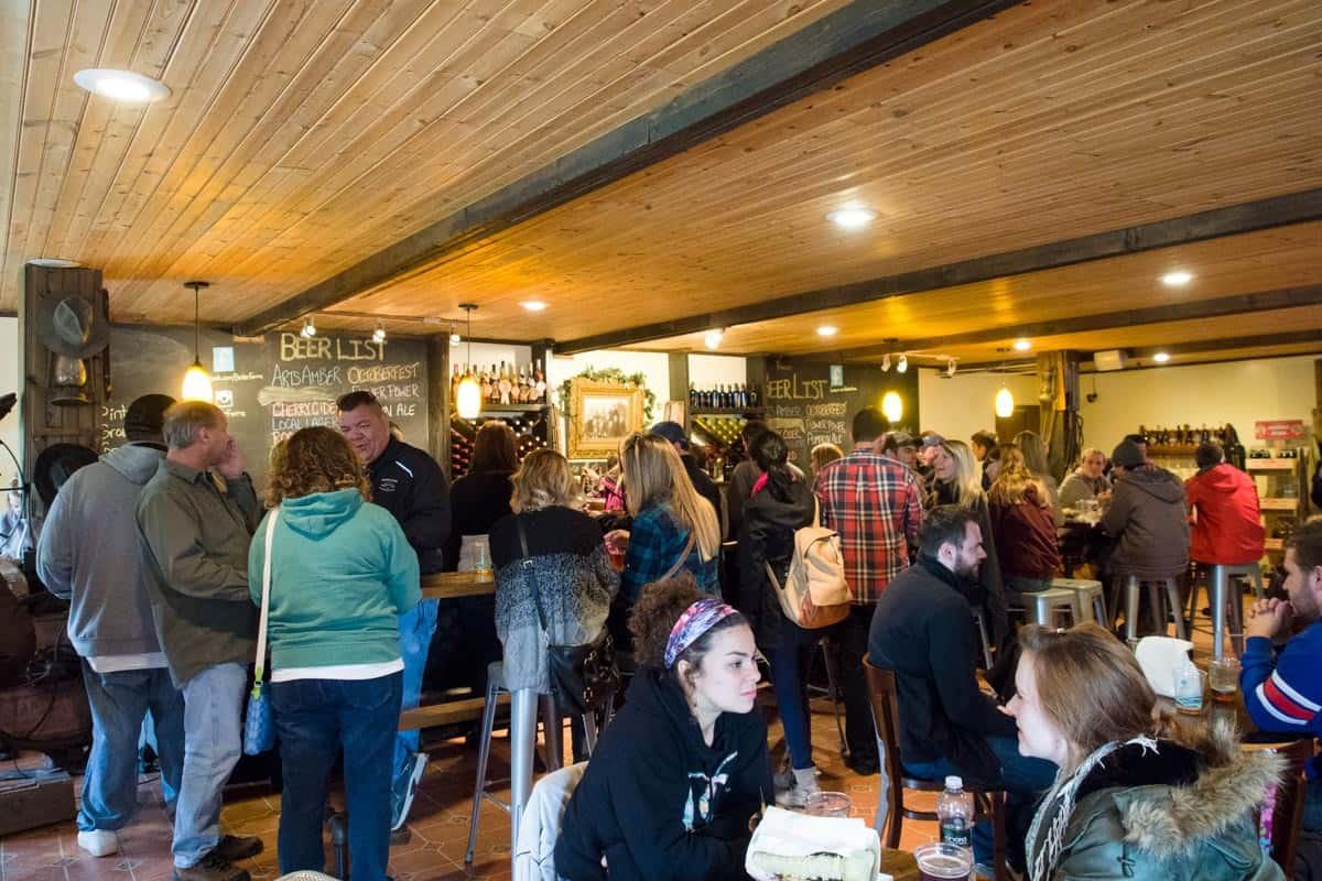 Inside the Becker Brewing bar.