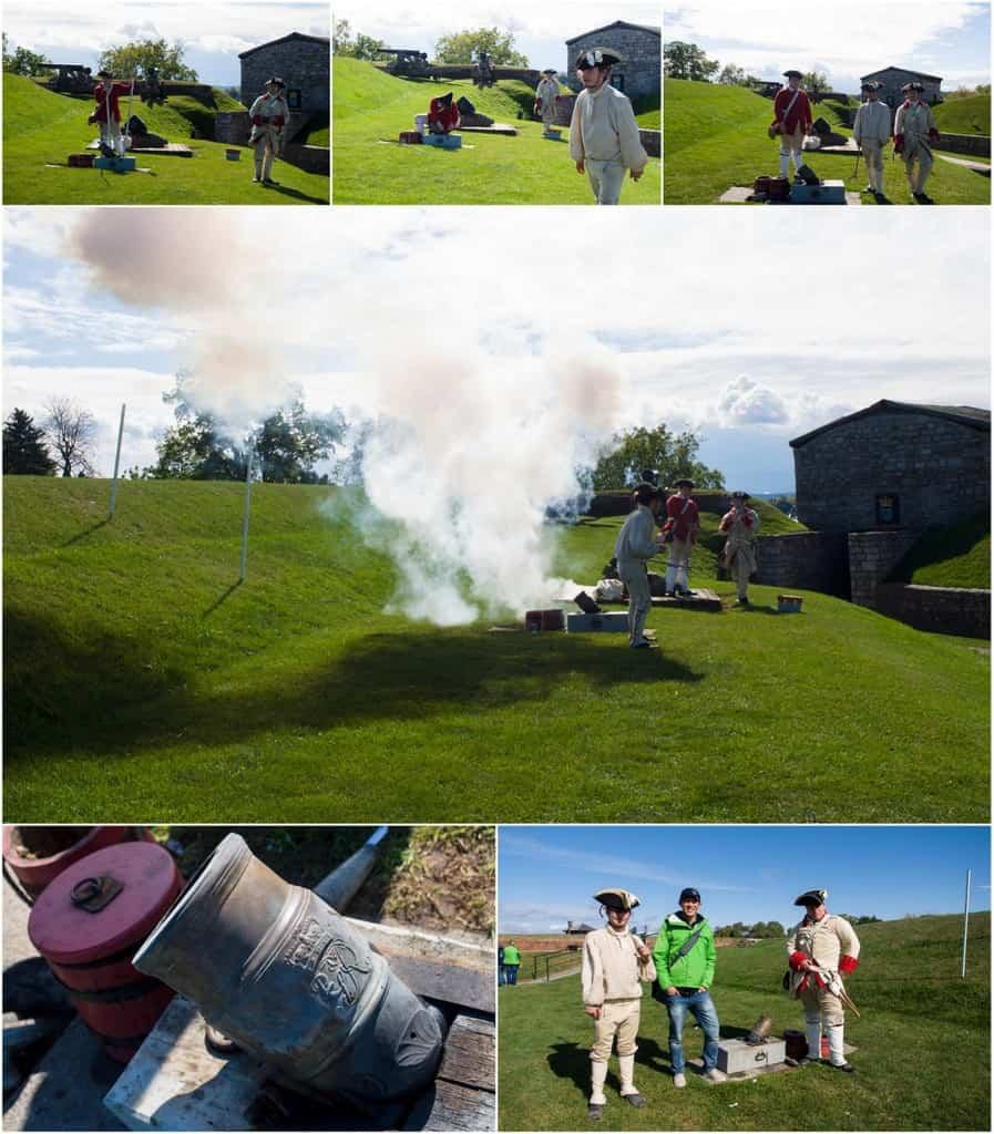 Mortar firing demonstration.