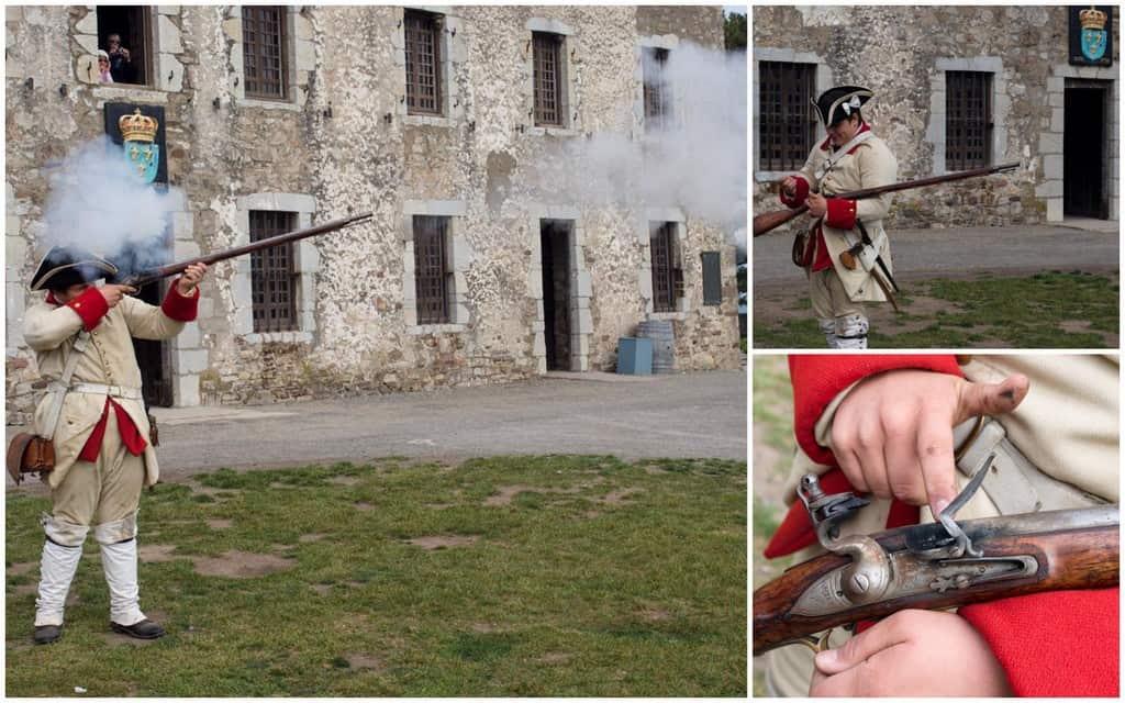 Musket firing demonstration.