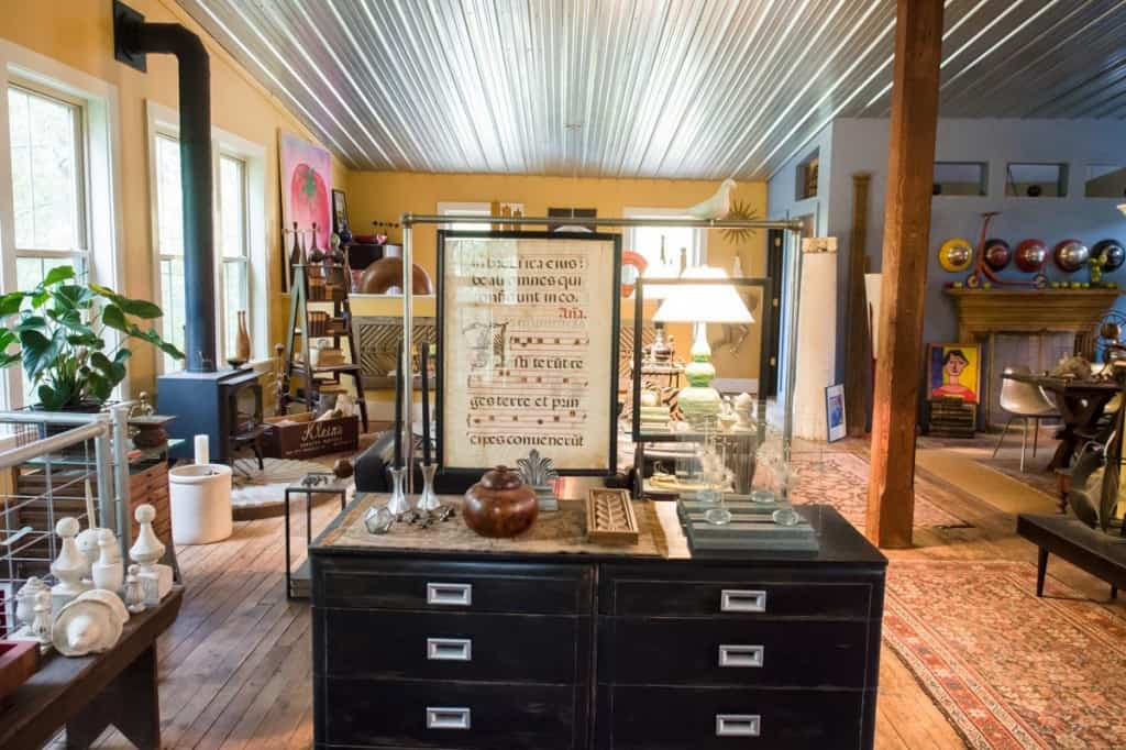 inside todd's loft on the second floor or jeddo mills antiques