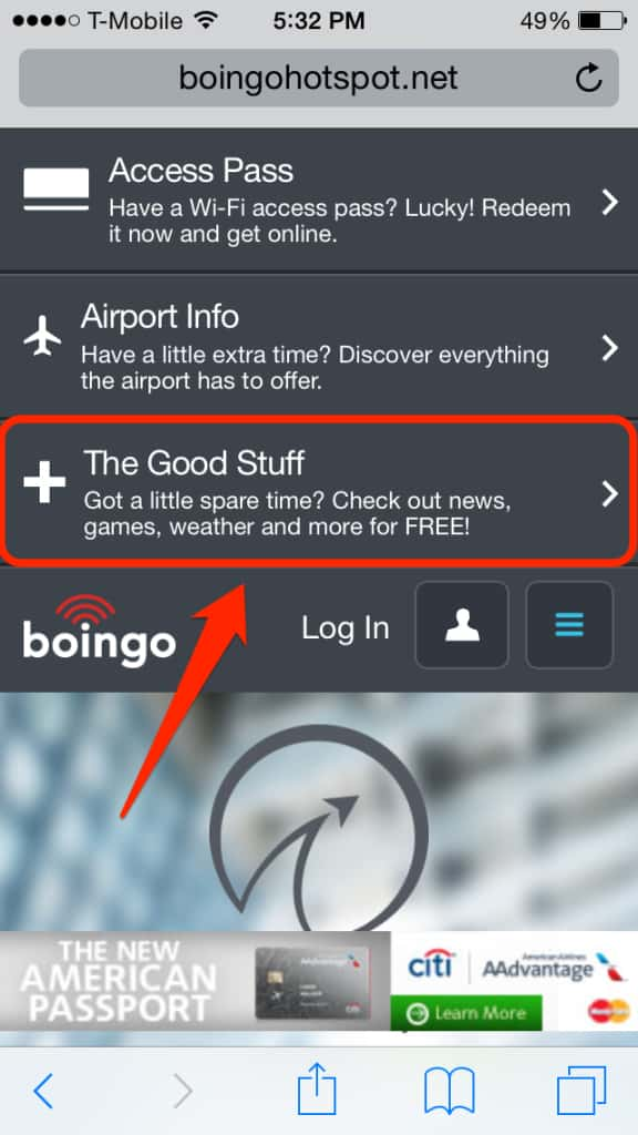 Boingo free wifi step 2 for mobile