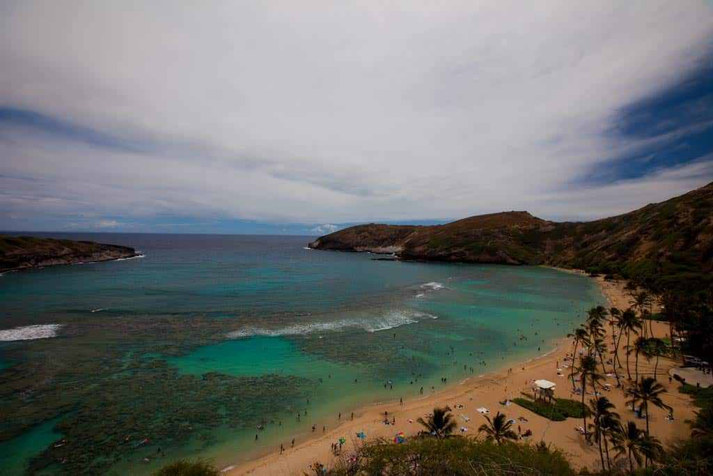 hanauma bay for snorkelling activity in 2 day honolulu itinerary