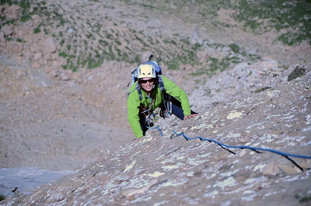 Rock climbing in the Southern French Alps.