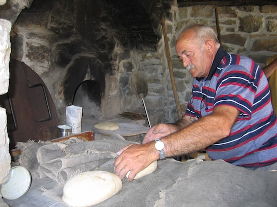 Traditional bread oven in the Alps.