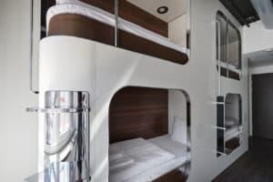 steel house hostel in copenhagen bedroom