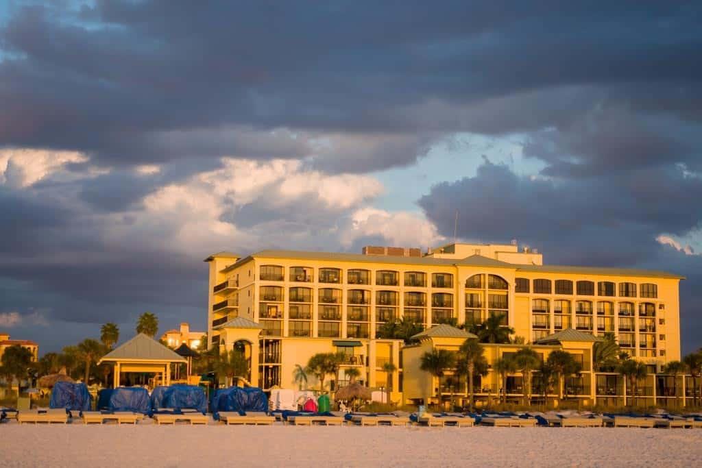 Sirata Beach Resort at Sunset