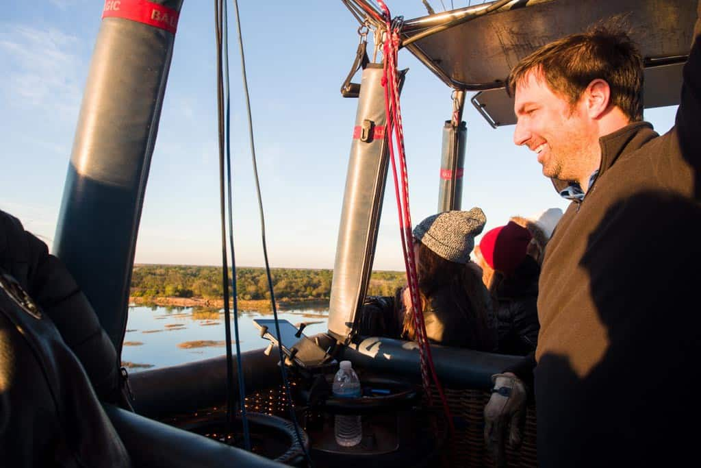 Damien at the helm.