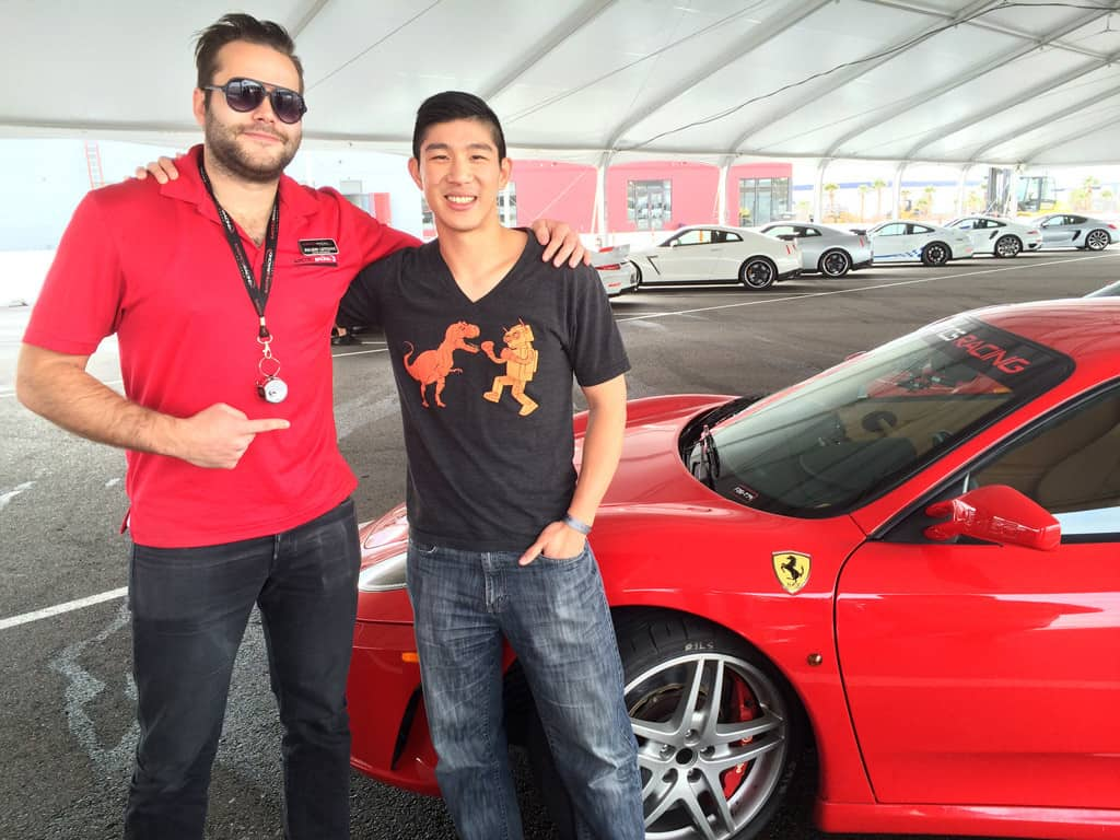 With my instructor Julien and my new friend Ferrari F430 F1.