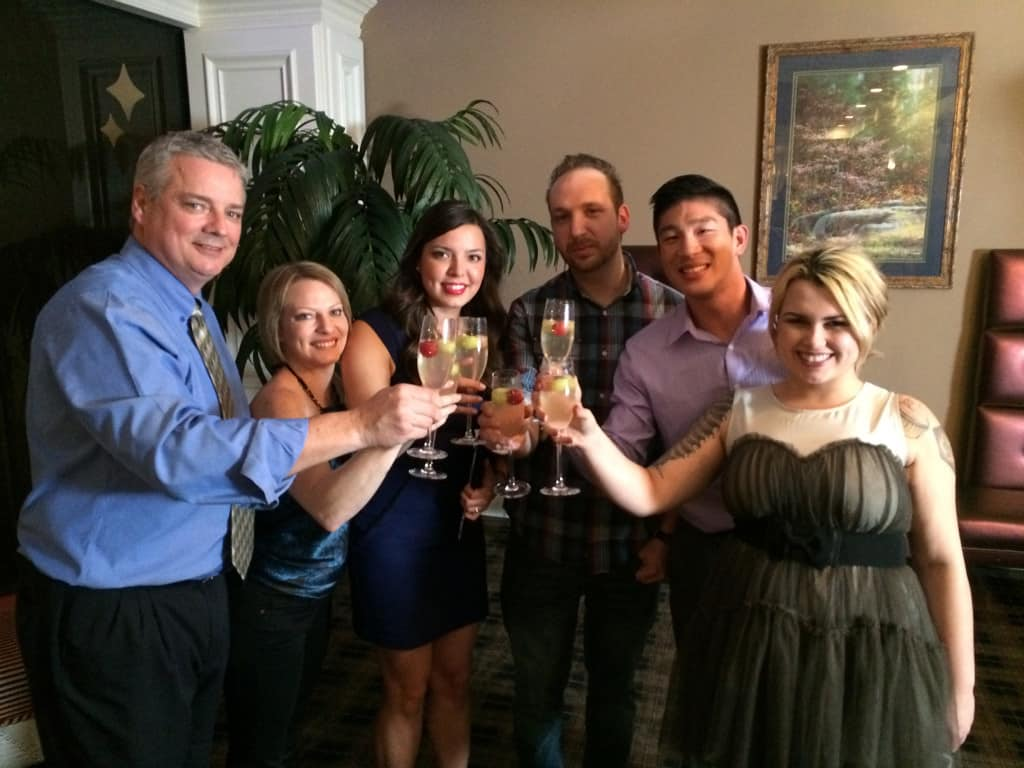 Toasting to #Sinternship and the wrapping up of shooting.