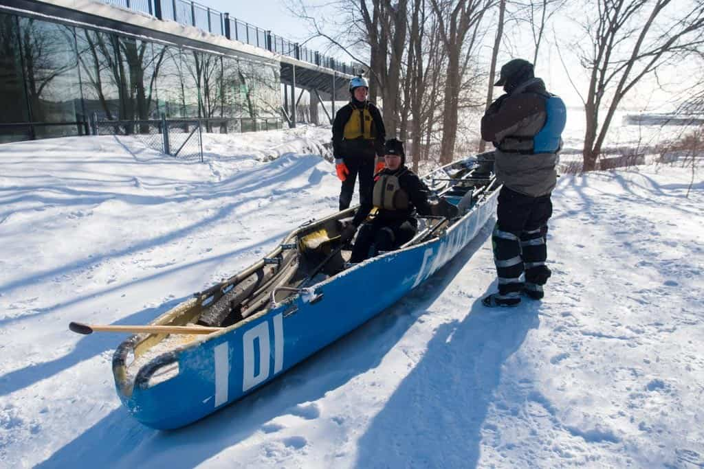Ice Canoeing Training