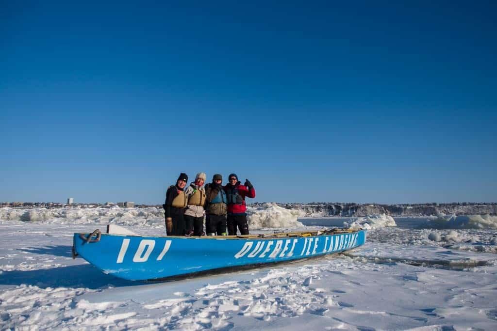 Ice Canoeing Group Shot
