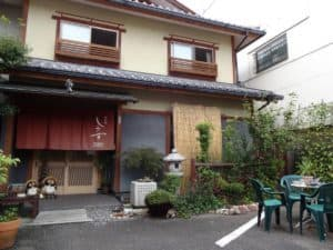 ryokan shimizu entrance in kyoto