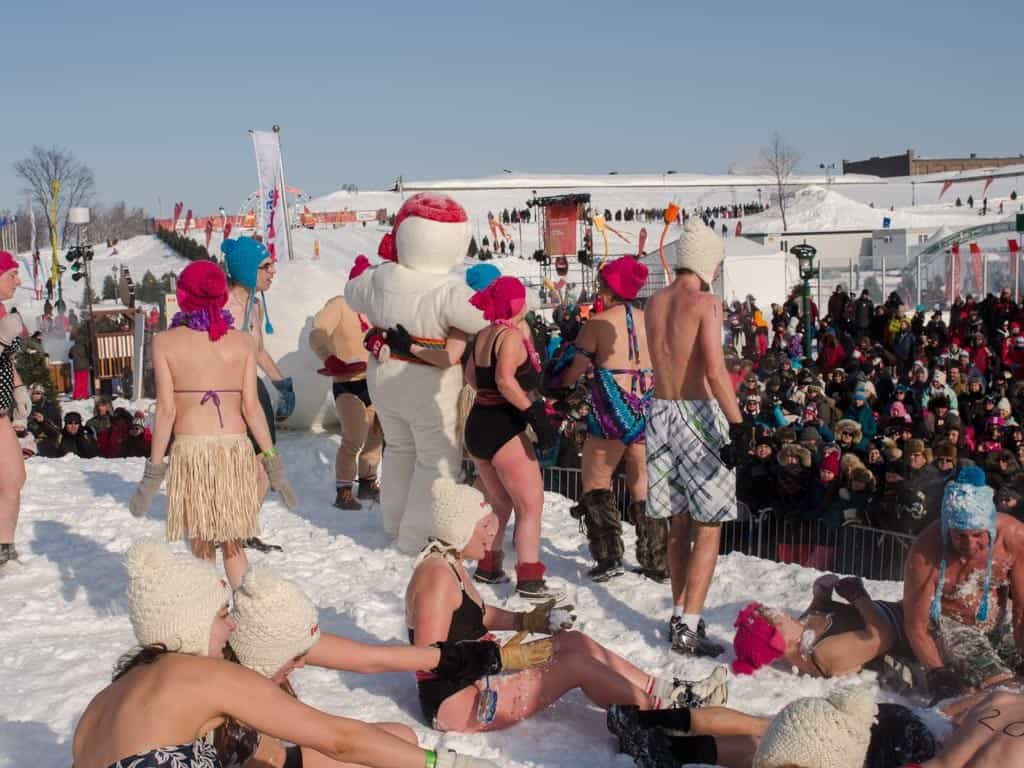 Carnaval Snow Bath Crowd