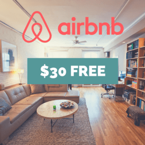 Sign up for airbnb today and get $30 free in credit