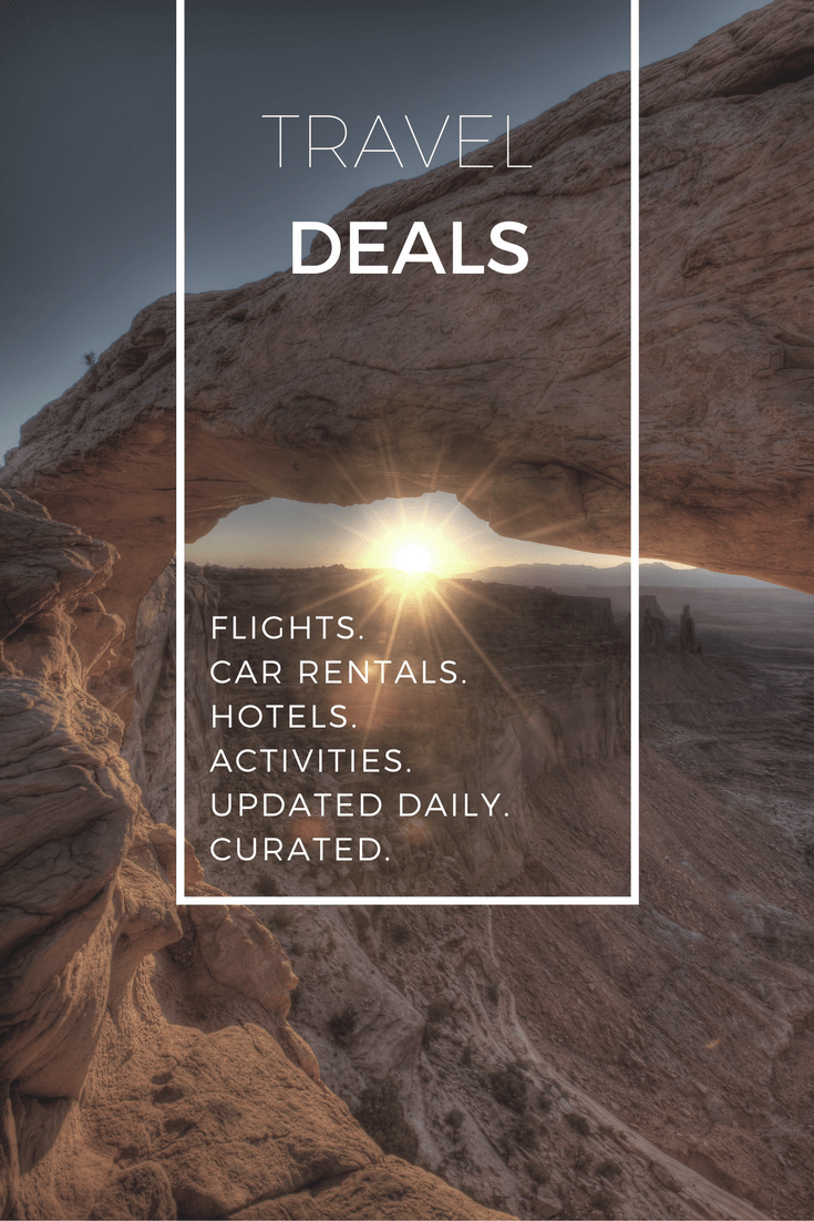 Regularly updated with the best curated travel deals curated. Contains deals for flights, hotels, car rental, activities, and more! #traveldeals