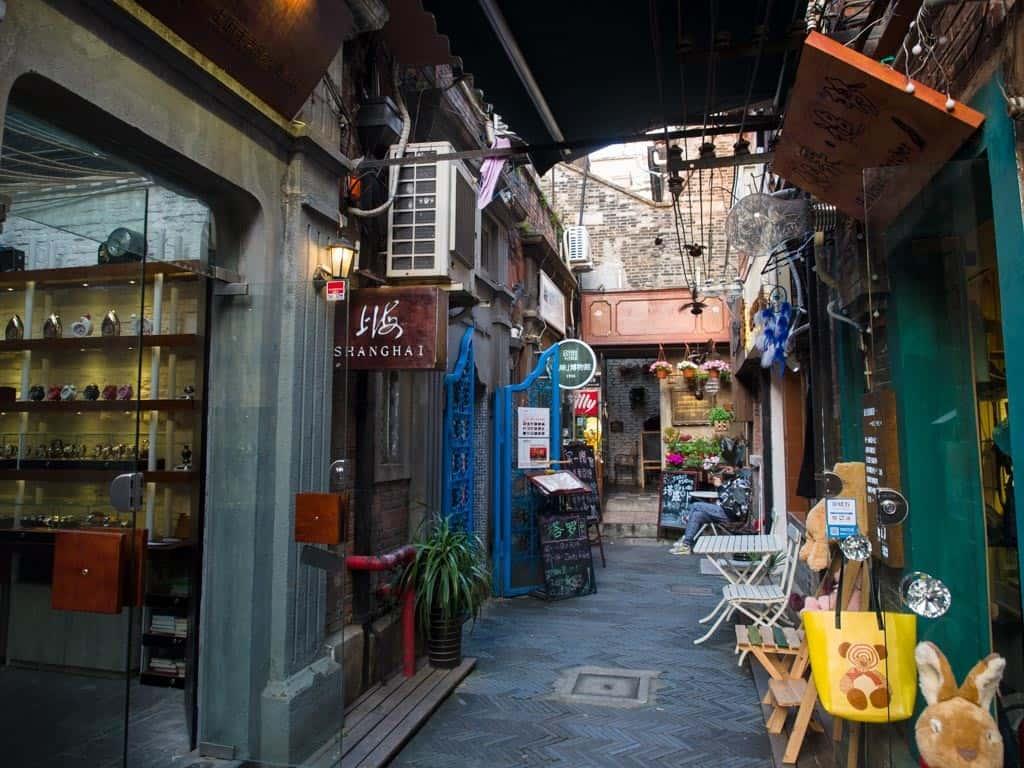 tianzifang alleyway in shanghai