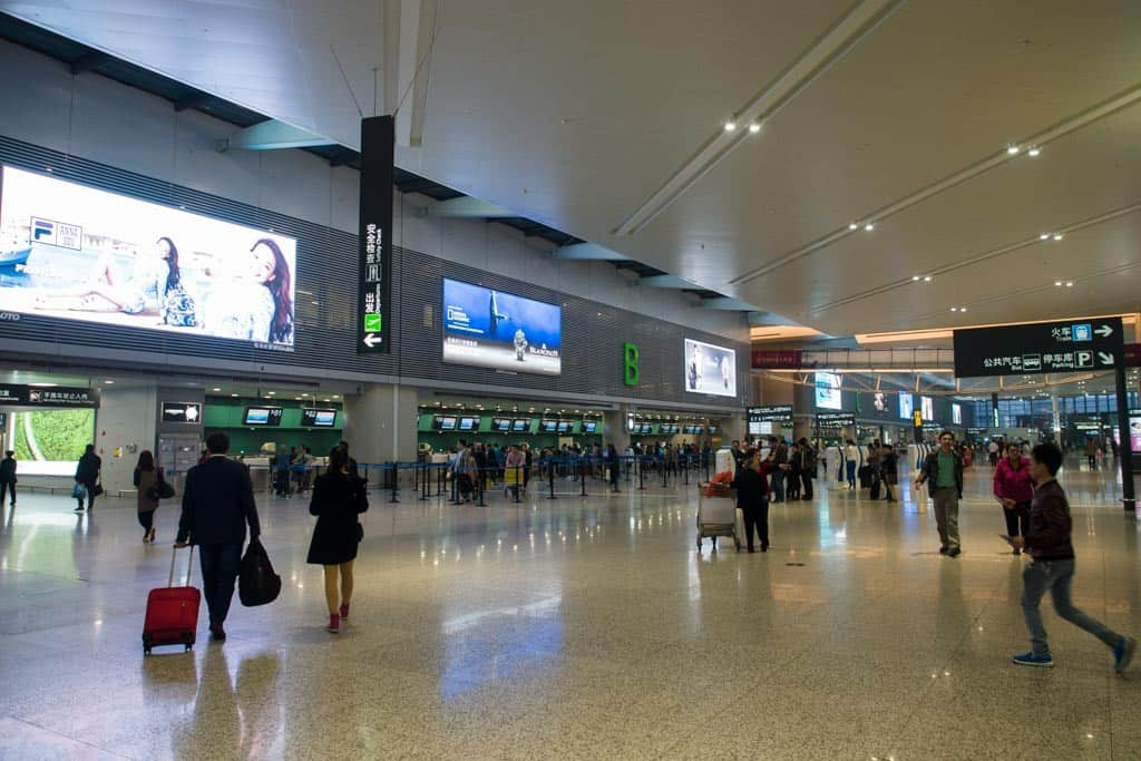 Inside the new Hongqiao Airport in Shanghai that's mainly used for domestic flying.