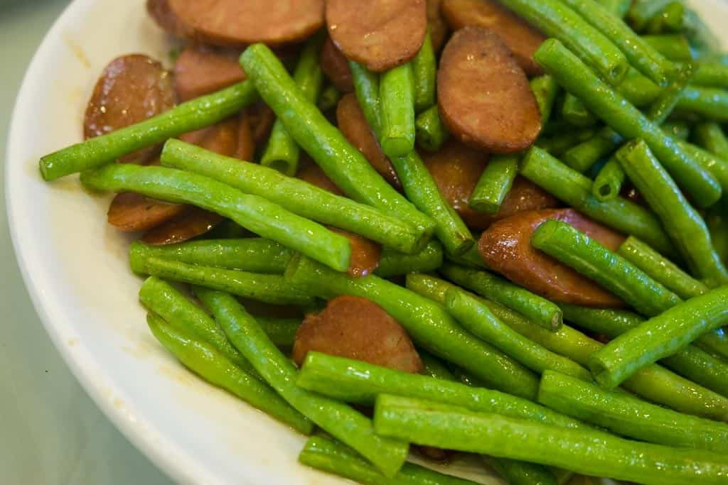 Those look like sausages but they're actually made out of some sort of tofu.
