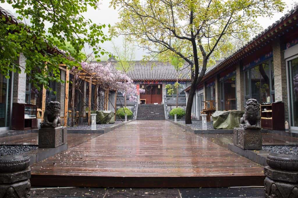 The lovely courtyard of the vegetarian restaurant we ate at.  Purely designed for tourists but nonetheless done very well.