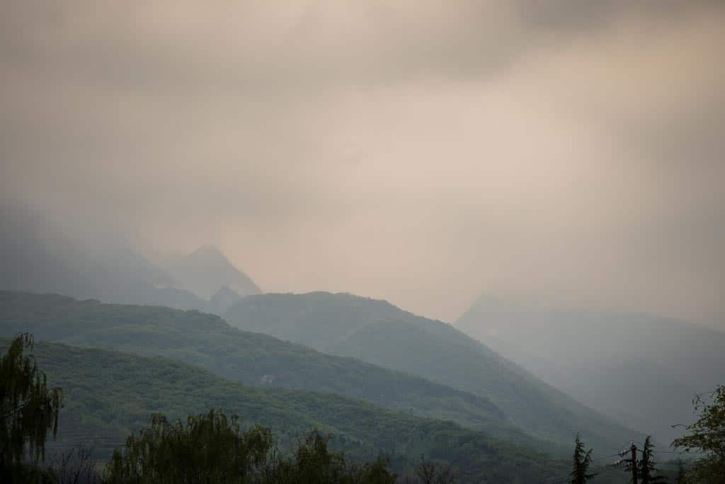 The rainy day provided a ton of dramatic shots of the mountain like this