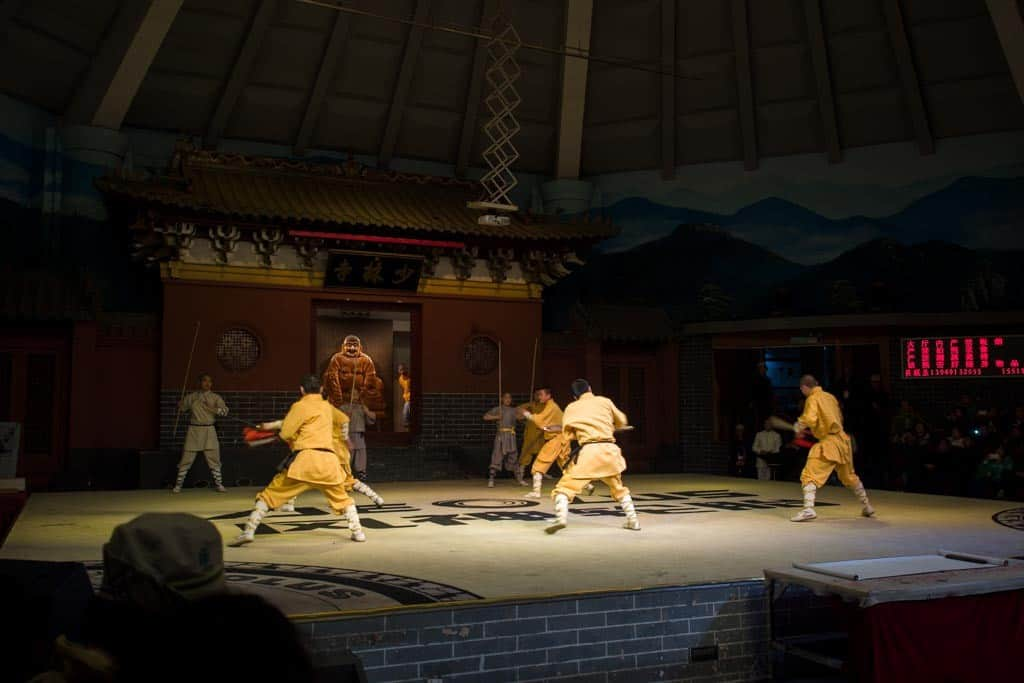 The kung fu show featuring kids from nearby schools at Shaolin was actually pretty impressive.  These kids were really good!
