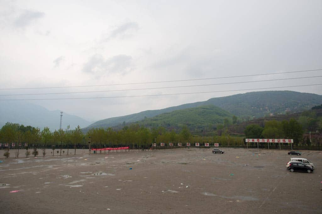 Typically the training field for the students, this was turned into overflow parking on the day we visited.  Just look at all the garbage left behind.  I was disgusted!