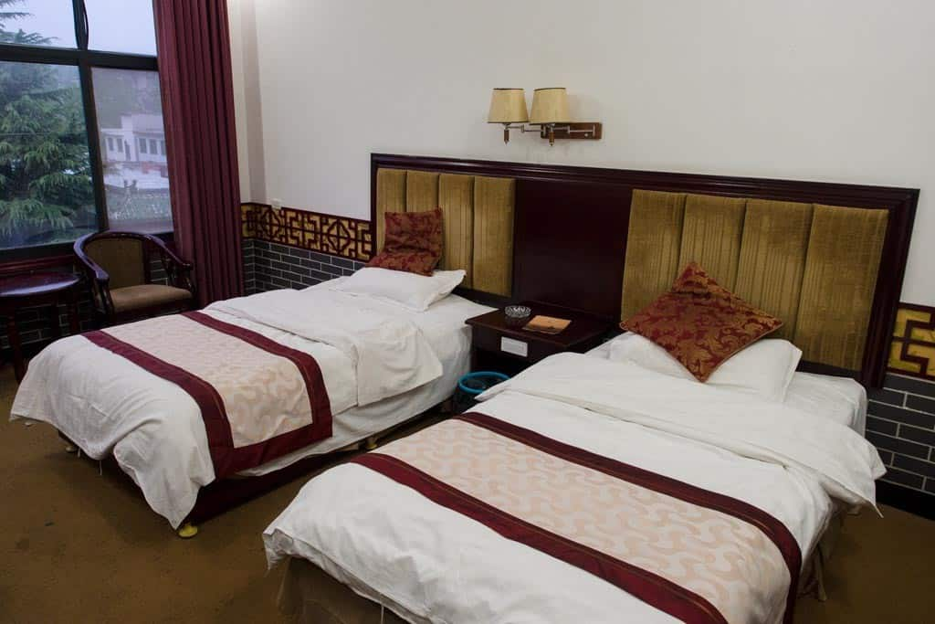 Last but not least, our scary hotel for the night in the tiny town of Dengfeng.  The room looked alright until...