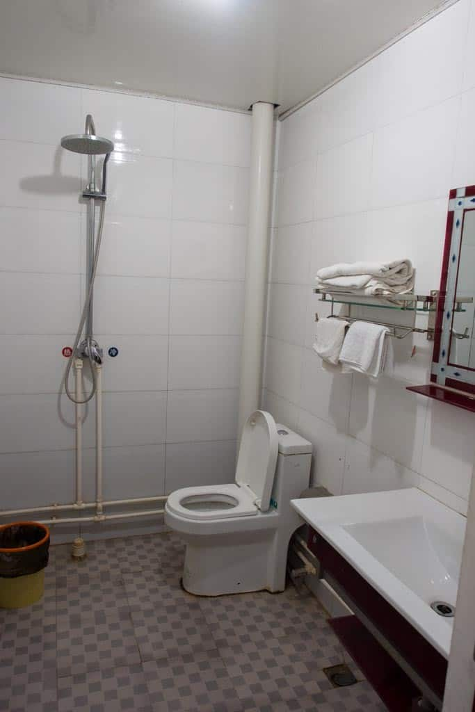 The hardest part for a lot of travellers to rural parts of China are the bathrooms and this particular hotel in Dengfeng was no exception.