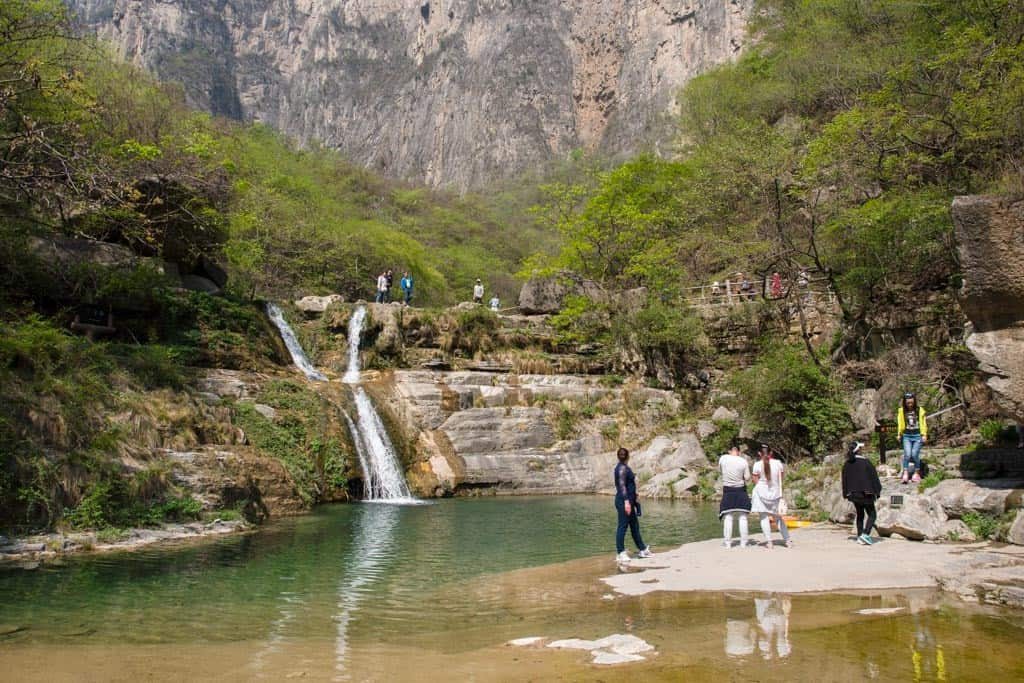 Tanpu Gorge Xiaozhai Valley Y-Shaped Waterfall